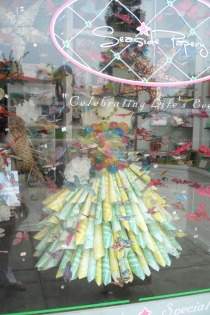 Seaside Papery window display