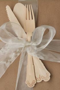 Wooden utensils gift topper