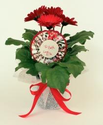 Paper & Flowers DIY medallion floral pick