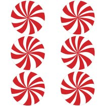 peppermint-swirlstickers from Paper Source