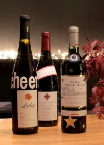 Wine Bottles Decorated with Stickers