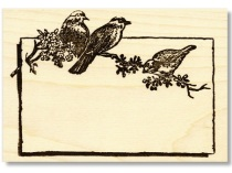 Bird Label Rubber Stamp from Kate's Paperie