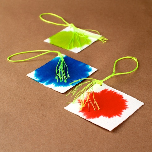 DIY Colour-Burst Gift Tags