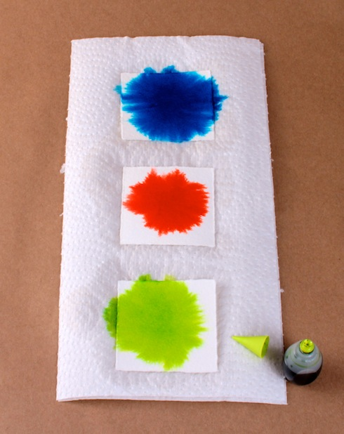 DIY Colour-Burst Gift Tags, Dye Drops
