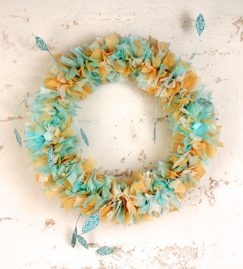 Spring Watermark-Tissue Wreath