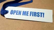 """Everyday gift tag, """"Open Me First!"""" by 9SpotMonk"""