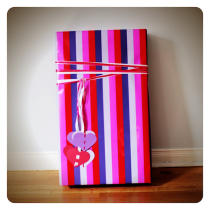 Bright Heart's and Stripes Bridal Shower gift