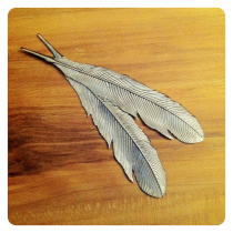 metal feathers