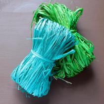 Colored raffia