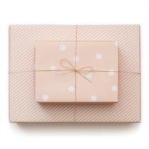 Reversible Wrapping Paper in Pale Pink, Sugar Paper