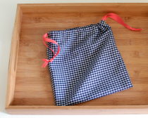 fabric drawstring bag for home-baked loaves