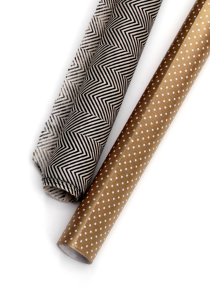 Herringbone and polka-dot wrapping papers