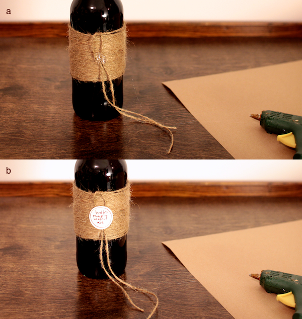 Jute-Wrapped Bottle, step 4