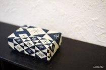 Art Deco Haibara Chiyogami Washi Paper Box from Uguisu