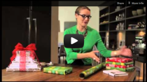Corinna vanGerwen's Holiday Wrapping video with Indigo