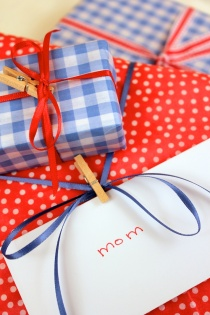 Polka-dot and gingham gifts