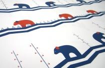 Blissful Bears wrap, Ink + Wit