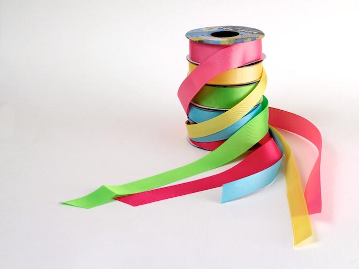 Grosgrain ribbon from Dollarama