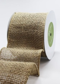 burlap ribbon natural from May Arts