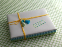 Gift wrapped with tassels and washi tape