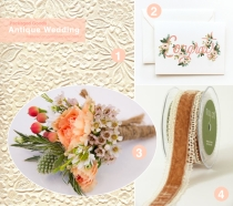 Antique Wedding Gift Wrap Look