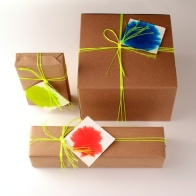 Colour-Burst Gift Tags (On Gifts)
