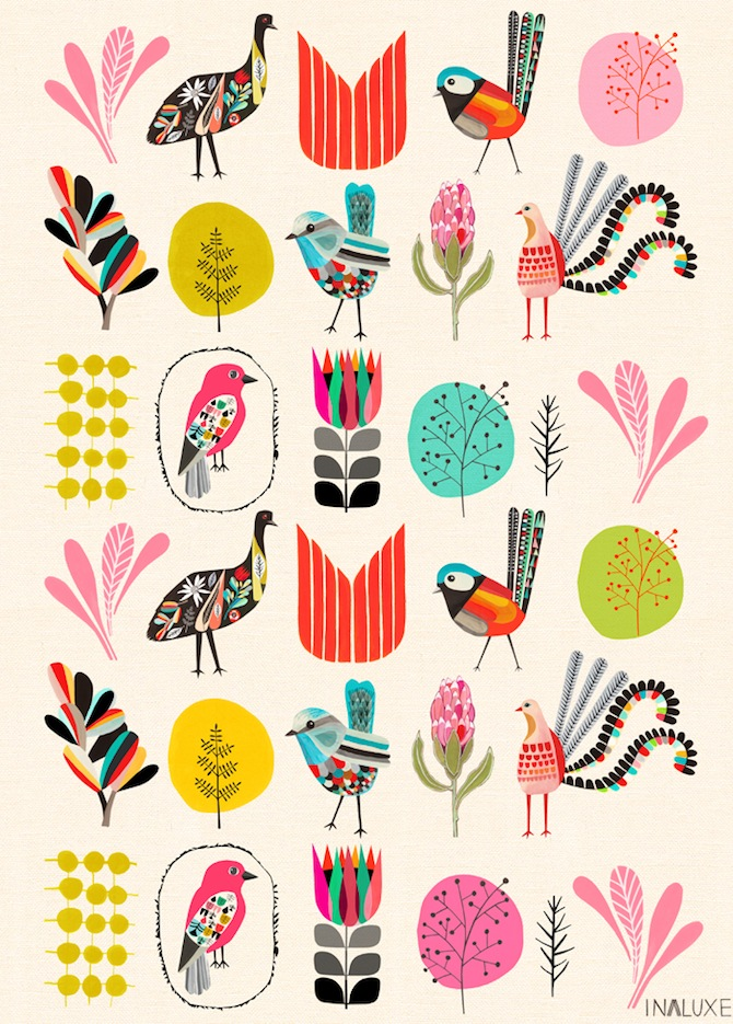 Garden Party wrapping paper by Inaluxe (flat sheet)