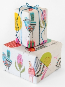 Garden Party wrapping paper by Inaluxe (wrapped boxes)