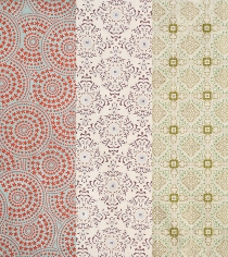 tile-pattern lokta wrapping papers from Paper Source
