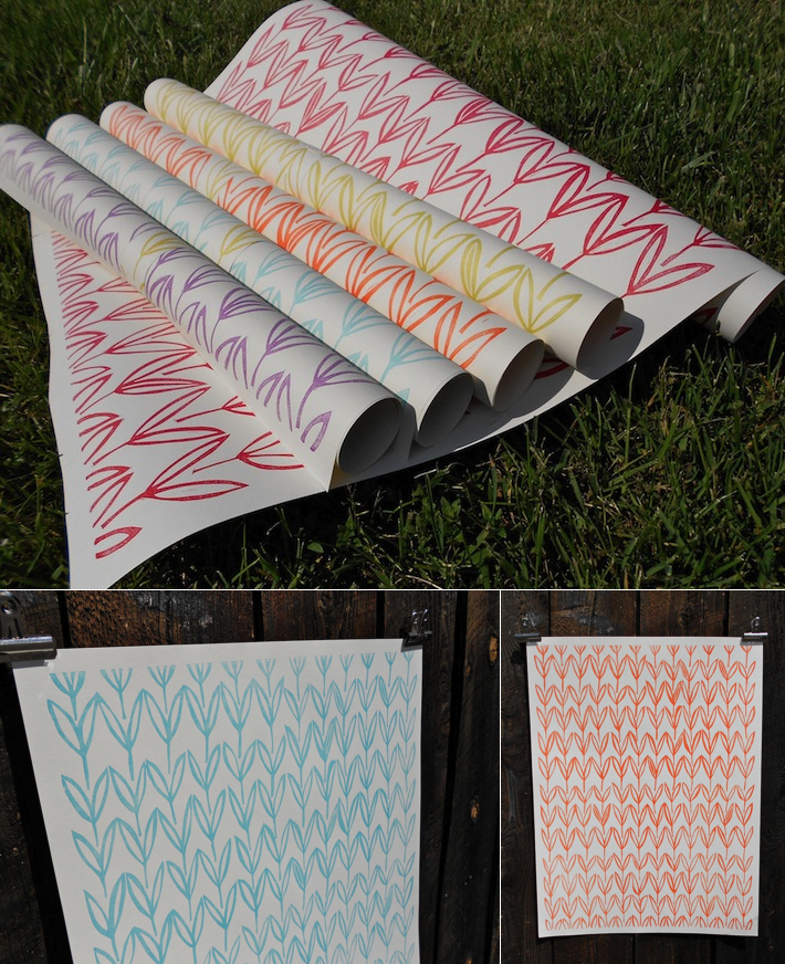 Field gift wrapping papers by May Day Studio
