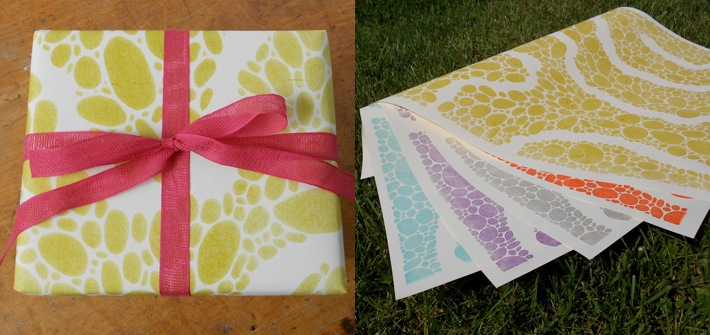 River gift wraps by May Day Studio