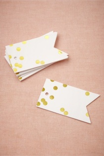 Confetti gift tags from Bhldn