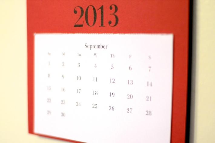 Sept. 2013 Calendar