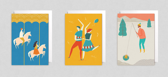 Naomi Wilkinson illustrated greeting cards from Lagom Design