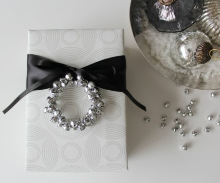 DIY Jingle Bell Gift Embellishment from Satori Design for Living