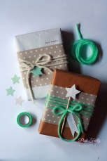 #. Mint Yarn and Star Wrapping