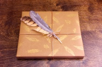 Feather gift wrap | CorinnaWraps.com