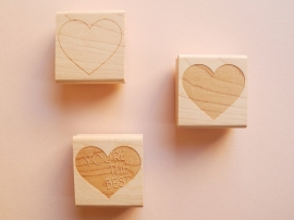 3. Heart stamps