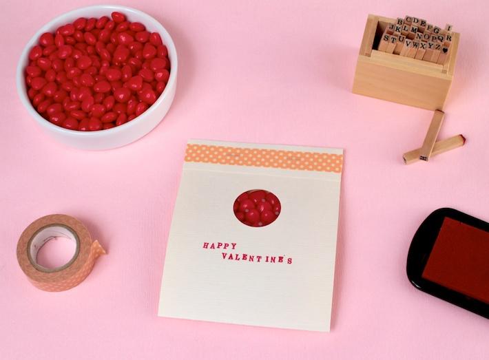 DIY peekaboo Matchbook Valentine (step 7) | CorinnaWraps.com