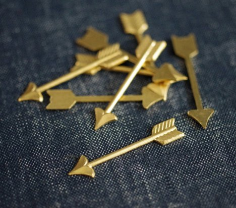 1. Brass arrow embellishments