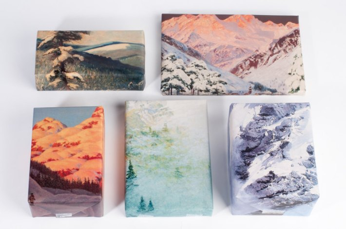 Mountain Range wrapping paper from Norman's Printery