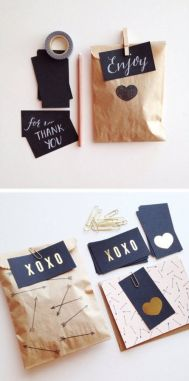 3. Kraft, Black and Gold Papergoods
