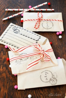 5. Valentine envelope/treat bag printable