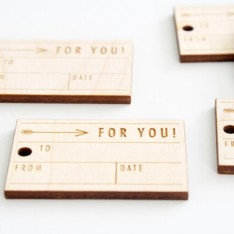 3. Wooden gift tags