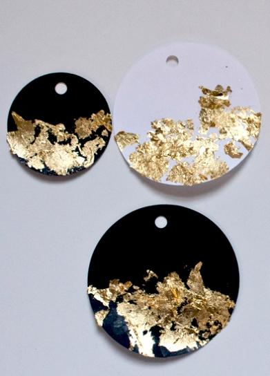 DIY Gold Leaf Gift Tags