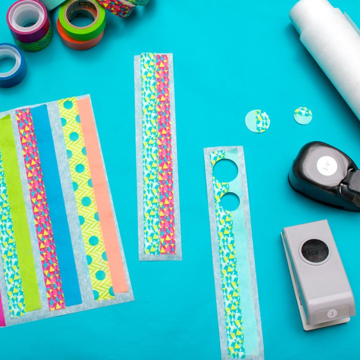 DIY Confetti-dot gift wrapping for a kid's birthday | Step 2: Make the dots | CorinnaWraps.wordpress.com
