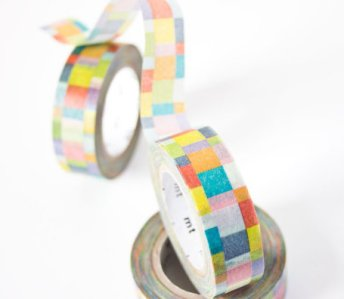 1. Mosaic Bright washi tape