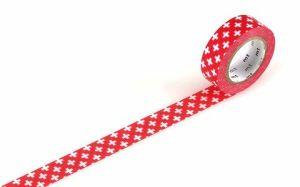 4.Cross Carmine washi tape