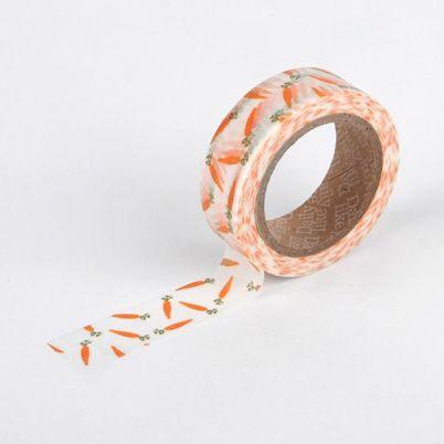 6. Carrot masking tape