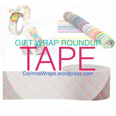 Gift Wrap Roundup: Tape the Rainbow — washi tape, fabric tape, glitter tape   CorinnaWraps.wordpress.com
